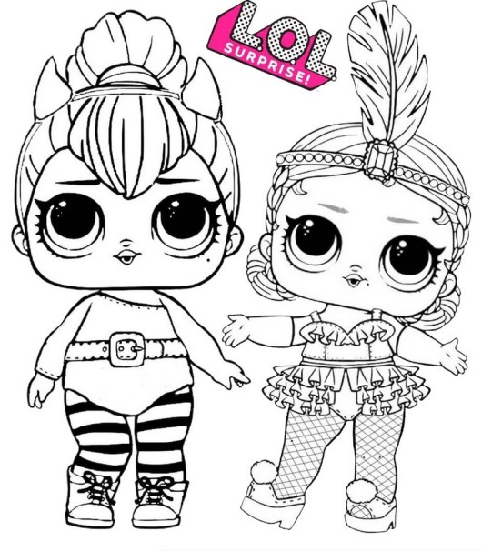 Spice and Showbaby LOL Surprise Coloring Page