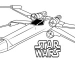 T 65 X Wing Fighter Star Wars Coloring Page