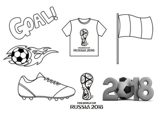 World Cup Equipments Coloring Page