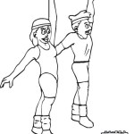 aerobics fitness coloring pages