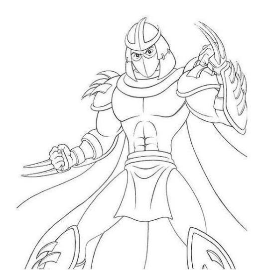 best shredder tmnt coloring page