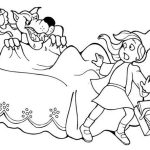 little red riding hood sacred by wolf storyland coloring page