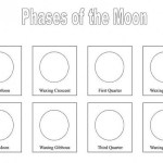 phases of the moon worksheet coloring page