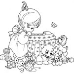 precious moments baby shower coloring sheet