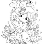 precious moments butterfly coloring page
