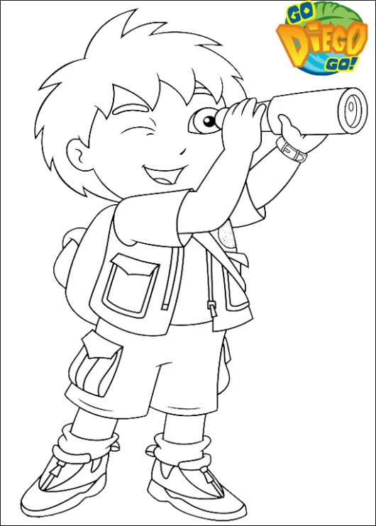 printable go diego go coloring sheet