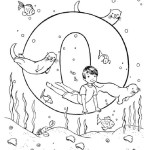 yoga pose like otter Letter O coloring pages for little angels