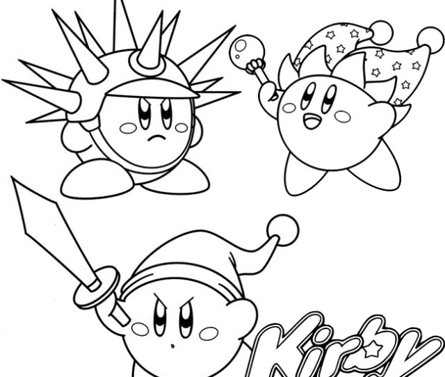 Complete Collection  Fun Kirby Coloring Pages For Children