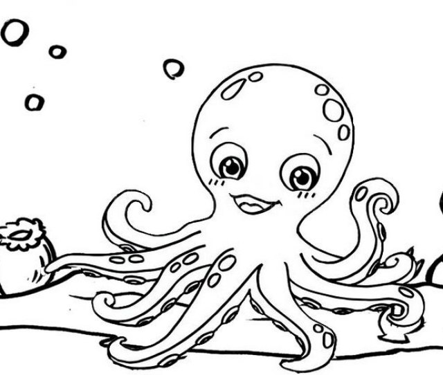 Top Ten Funny Octopus Coloring Pages For Kids Coloring Pages