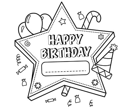 Happy Birthday Mom Coloring Page Free Coloring Pages Online
