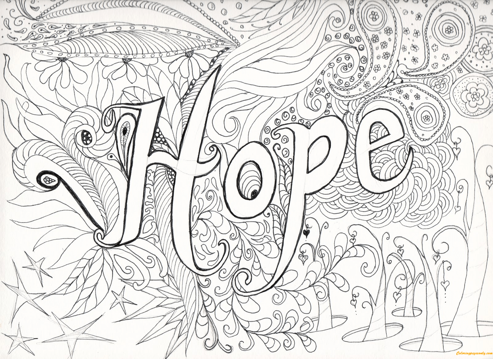 Letter Hope Coloring Page Free Coloring Pages Online