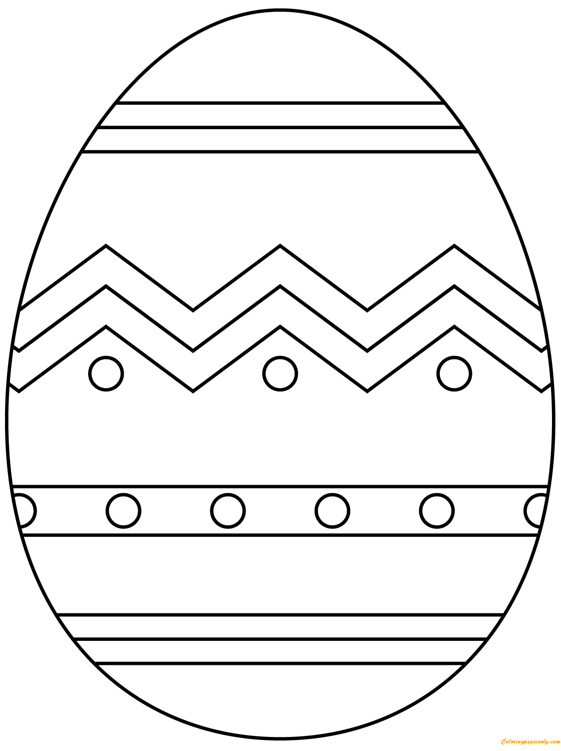 Abstract Pattern Easter Egg Coloring Page
