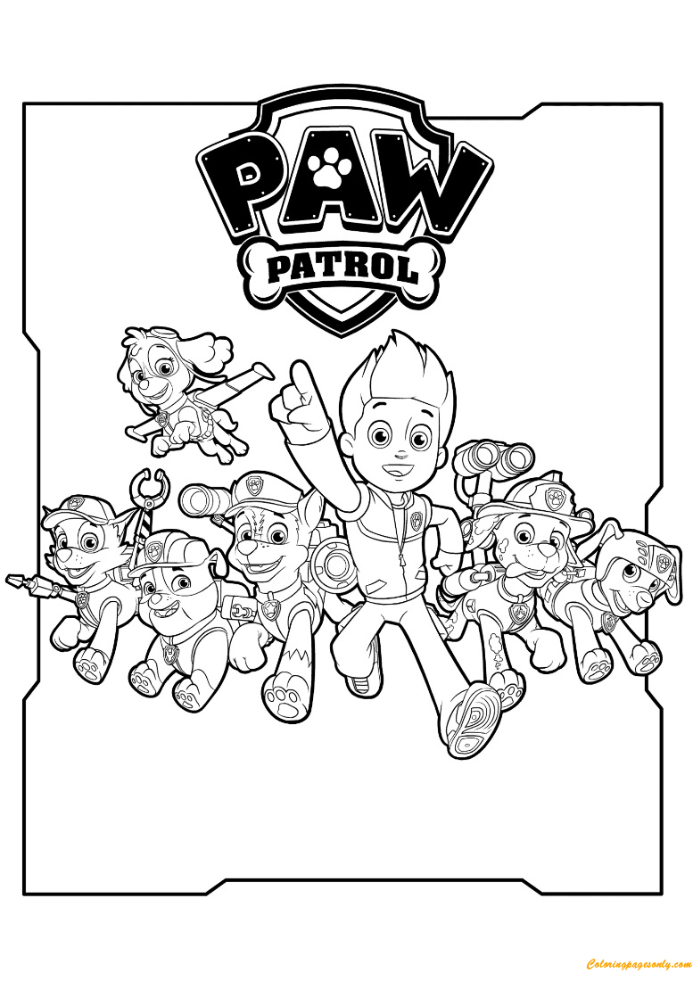 All Paw Patrol Characters Coloring Page Free Coloring Pages Online