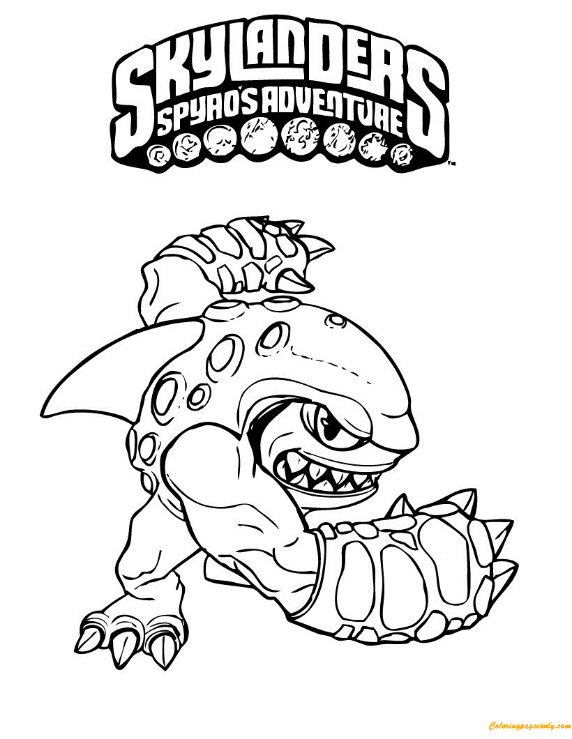 Awesome Skylander Coloring Page Free Coloring Pages Online