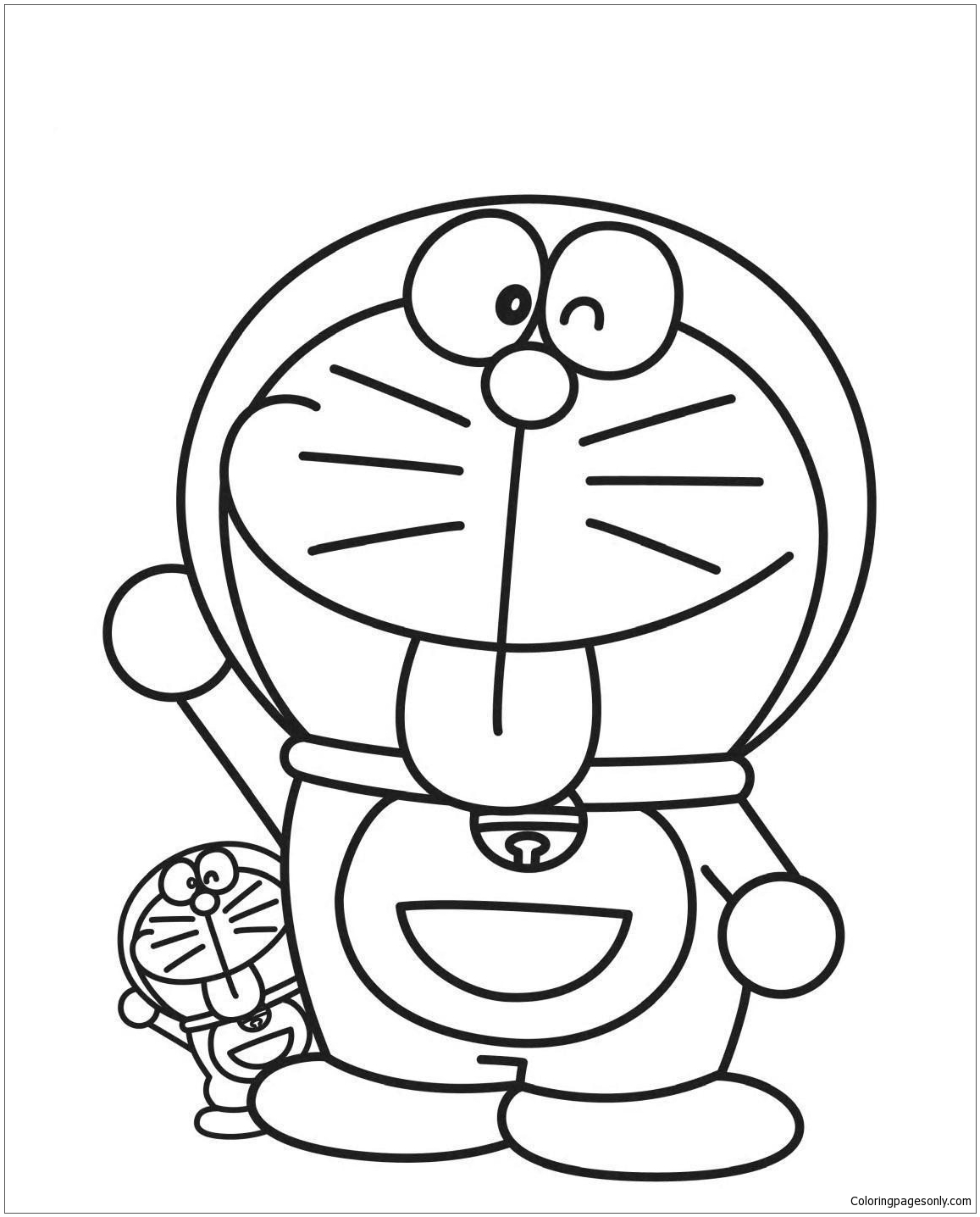 Big And Little Doraemon Coloring Page