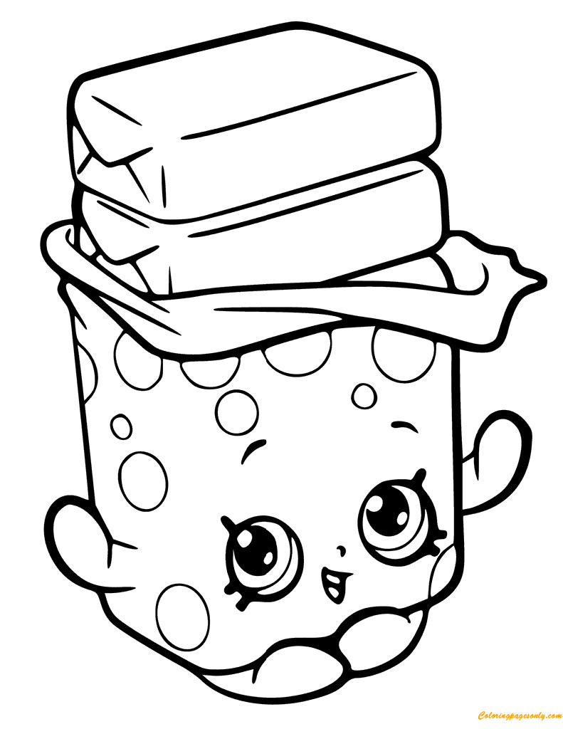Bobby Bubble Gum Shopkin Season 6 Coloring Page Free Coloring