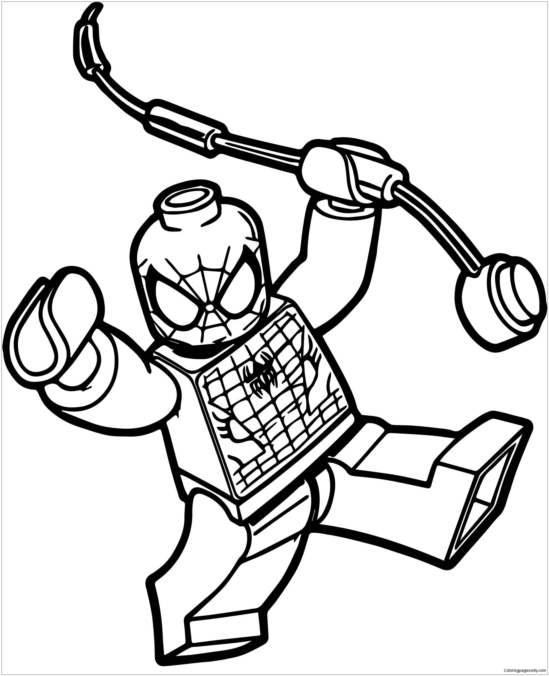 Box Spiderman Lego Spider Man Coloring Page Free Coloring Pages