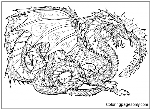 Cool Dragon Coloring Page Free Coloring Pages Online