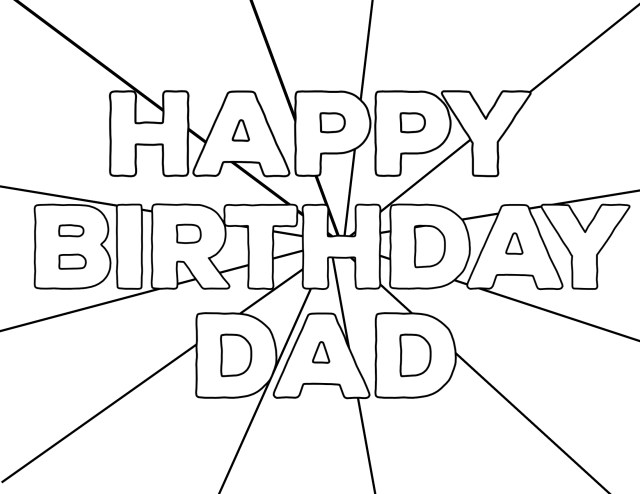 Dad birthday Coloring Pages - Happy Birthday Coloring Pages