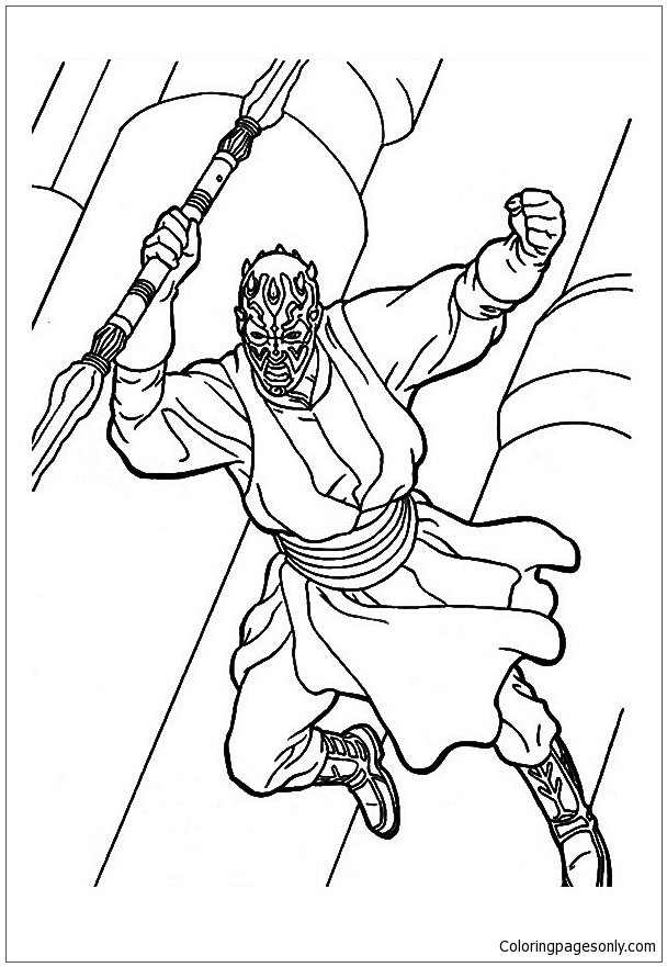 Darth Maul Of Star Wars Coloring Page Free Coloring Pages Online