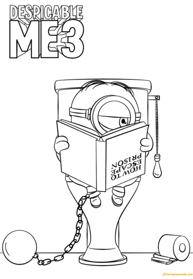 Despicable Me 30 Minion In Prison Coloring Pages - Cartoons