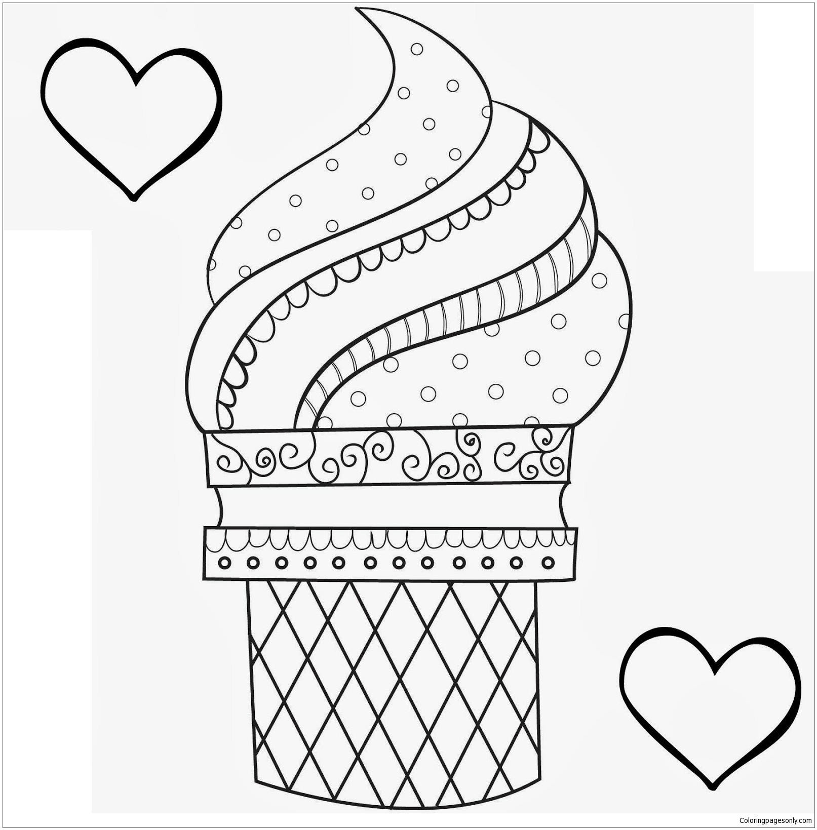 Dessert New Coloring Page