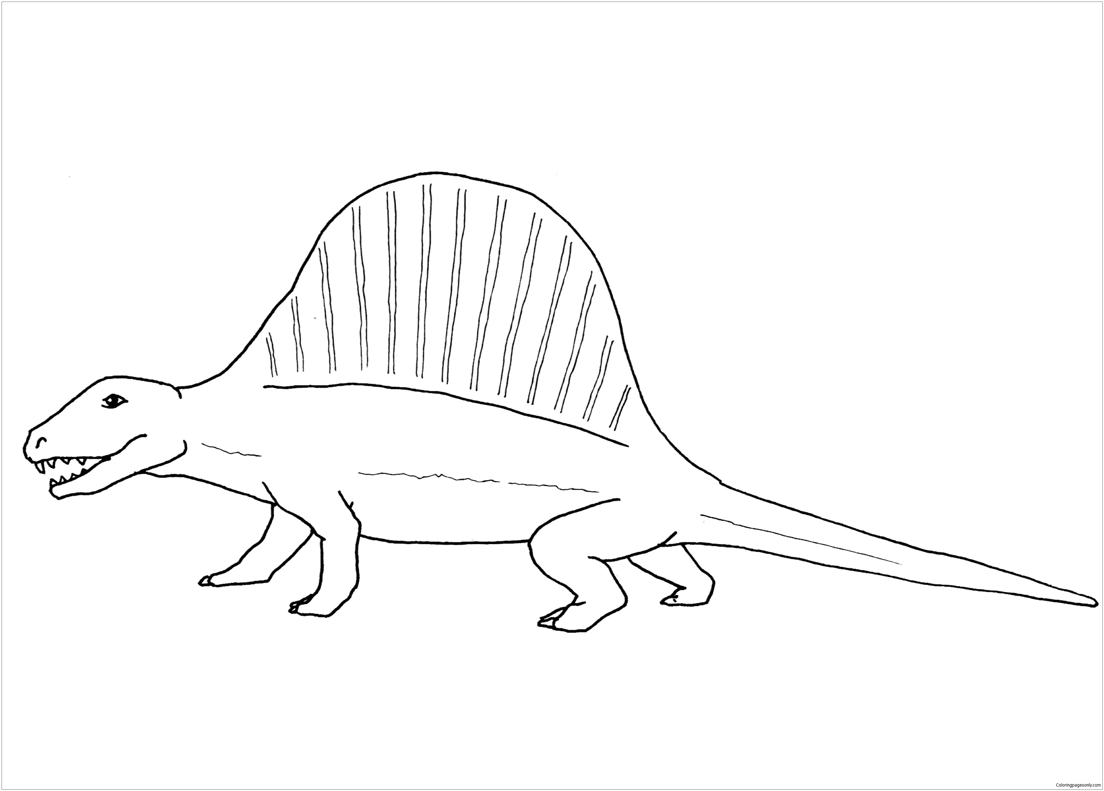 Dimetrodon Dinosaur 1 Coloring Page Free Coloring Pages Online