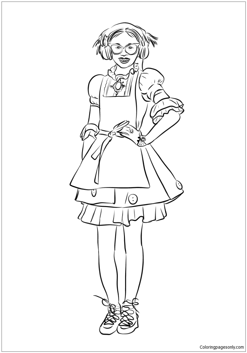 Dizzy From Descendants 2 Coloring Page Free Coloring Pages Online