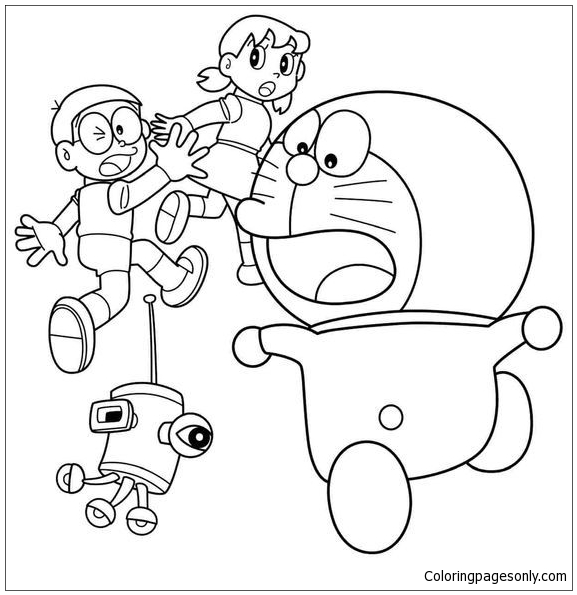 Doraemon And Friends Coloring Page Free Coloring Pages