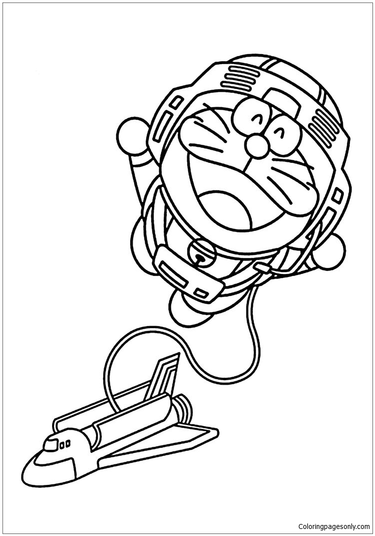 Doraemon Astronaut Coloring Page Free Coloring Pages Online