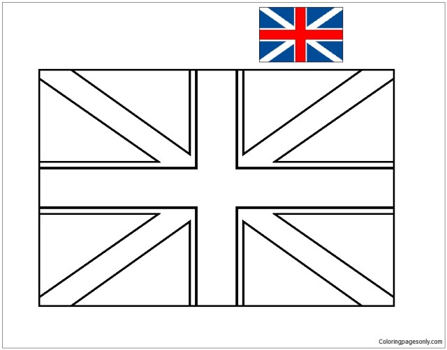 Flag of England-World Cup 5 Coloring Pages - World Cup Coloring