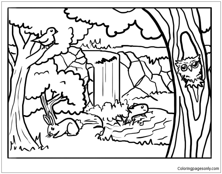 Forest Animals 2 Coloring Page Free Coloring Pages Online