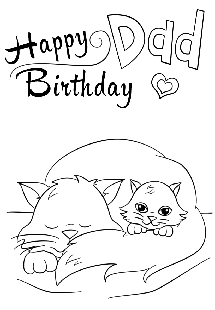 Happy Birthday Dad Coloring Page Free Coloring Pages Online