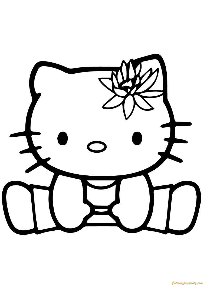 Hello Kitty Exercise Coloring Page Free Coloring Pages Online