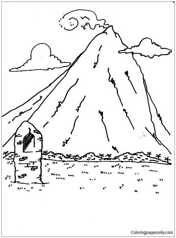 mountain coloring page # 64