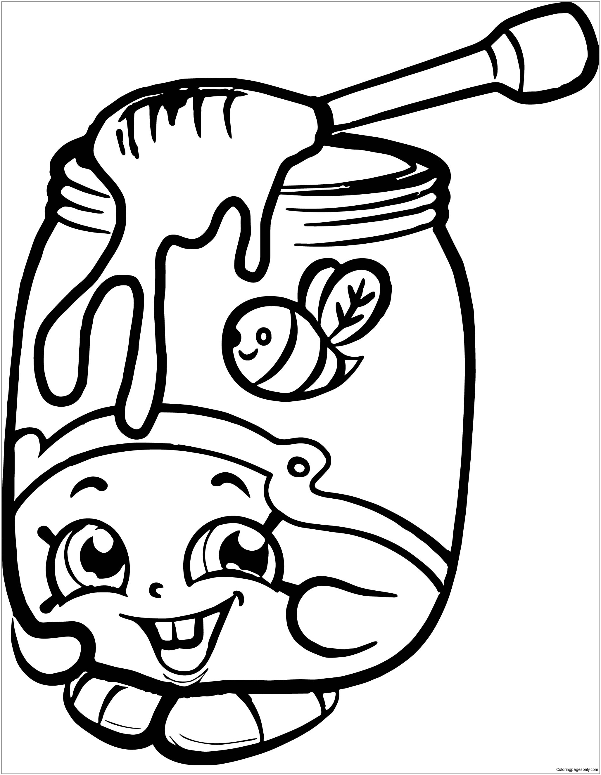 Honeeey Shopkins Season 2 Coloring Page Free Coloring Pages Online
