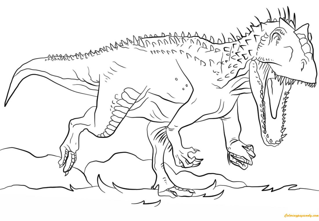 Jurassic World Stegosaurus Coloring Page   Novocom.top