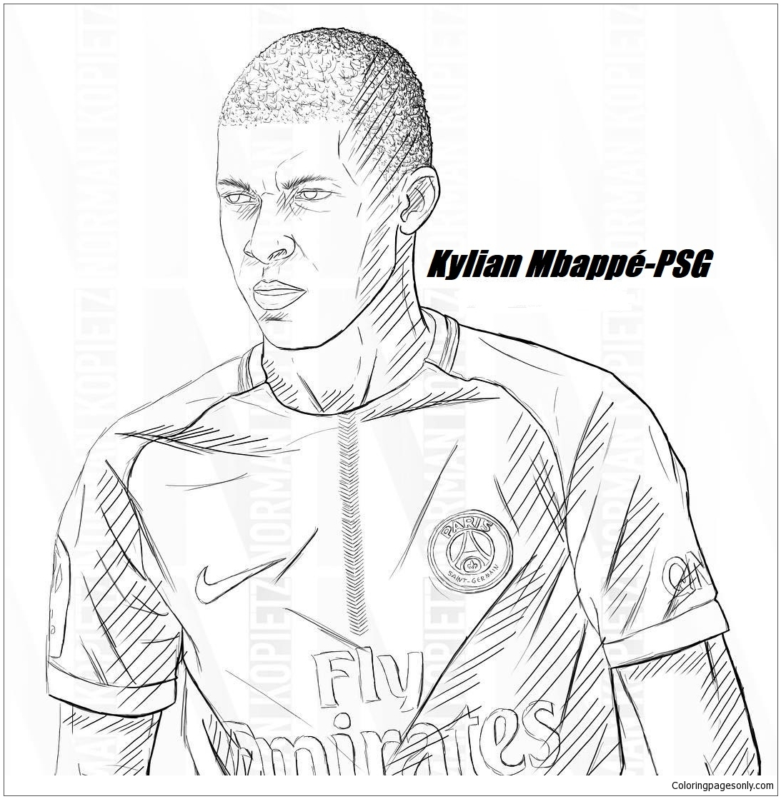 Kylian Mbapp Image 8 Coloring Page Free Coloring Pages