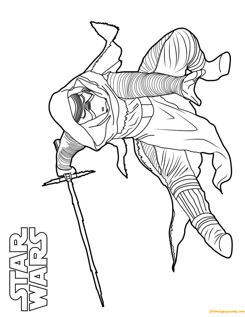 Kylo Ren Star Wars Coloring Page - Free Coloring Pages Online