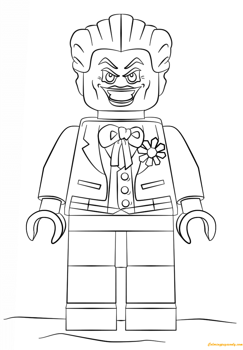 Lego Batman Joker Coloring Page Free Coloring Pages Online