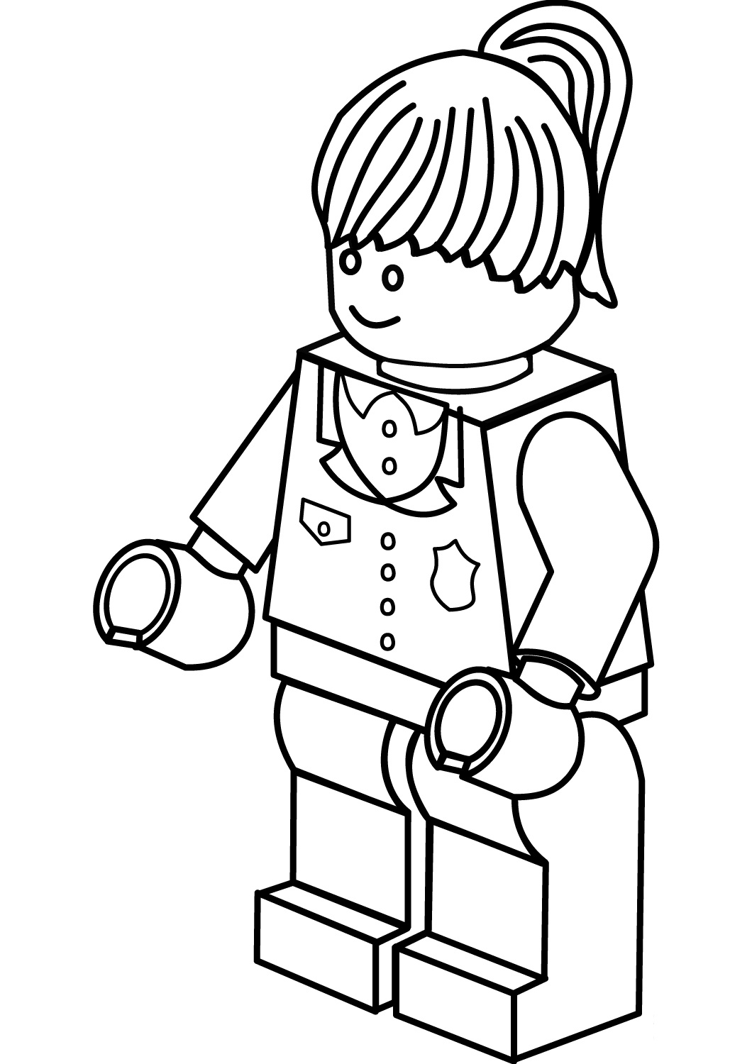 The Lego Batman Harley Quinn Coloring Page
