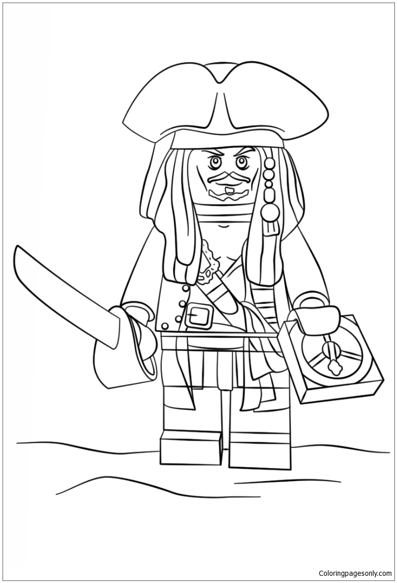 Lego Jack Sparrow Coloring Page Free Coloring Pages Online