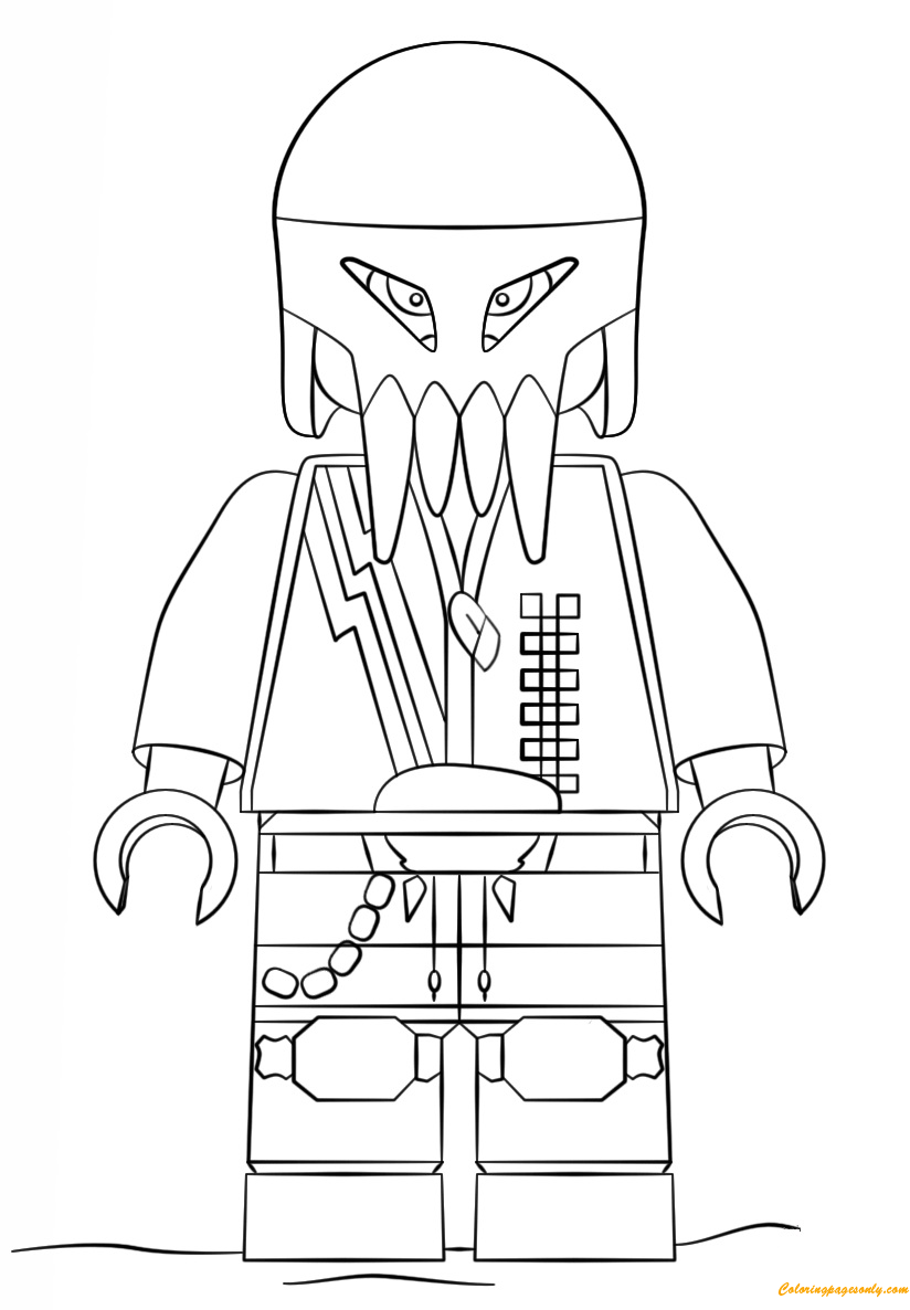 Lego Space Police 3 Alien Coloring Page Free Coloring Pages Online