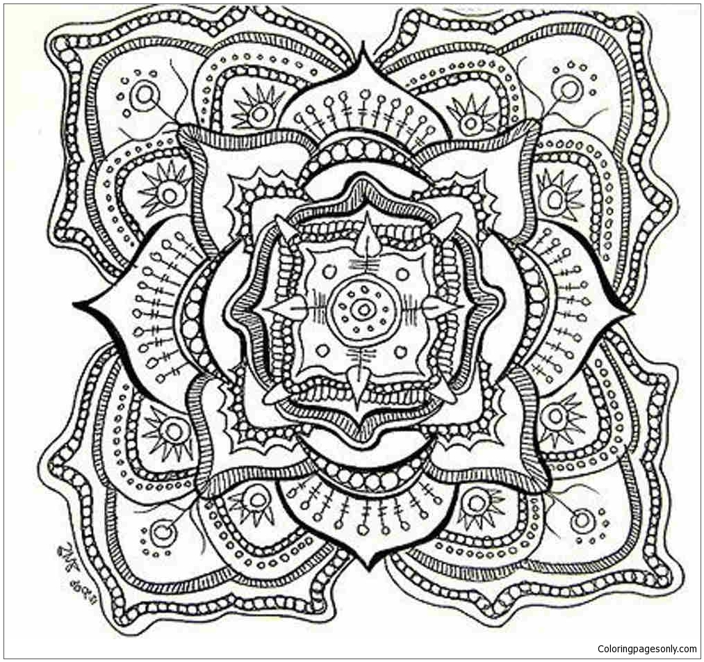 Mandala 24 Coloring Page Free Coloring Pages Online