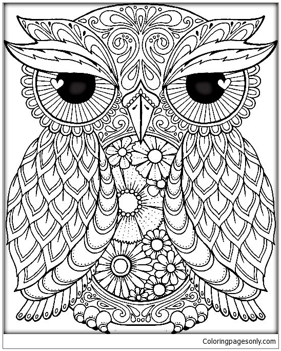 Mandala Owl Coloring Page Free Coloring Pages Online