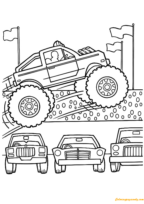 Mohawk Monster Truck Coloring Page Free Coloring Pages