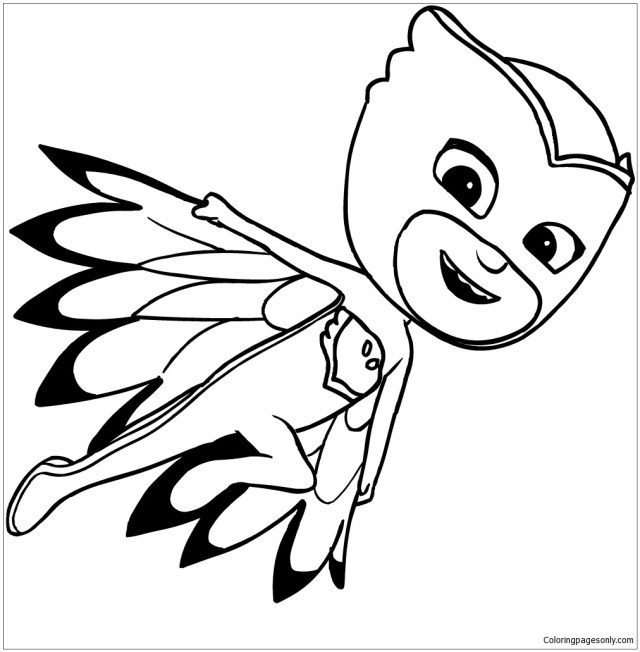 29 best ideas for coloring  Owlette Pj Masks Coloring Page