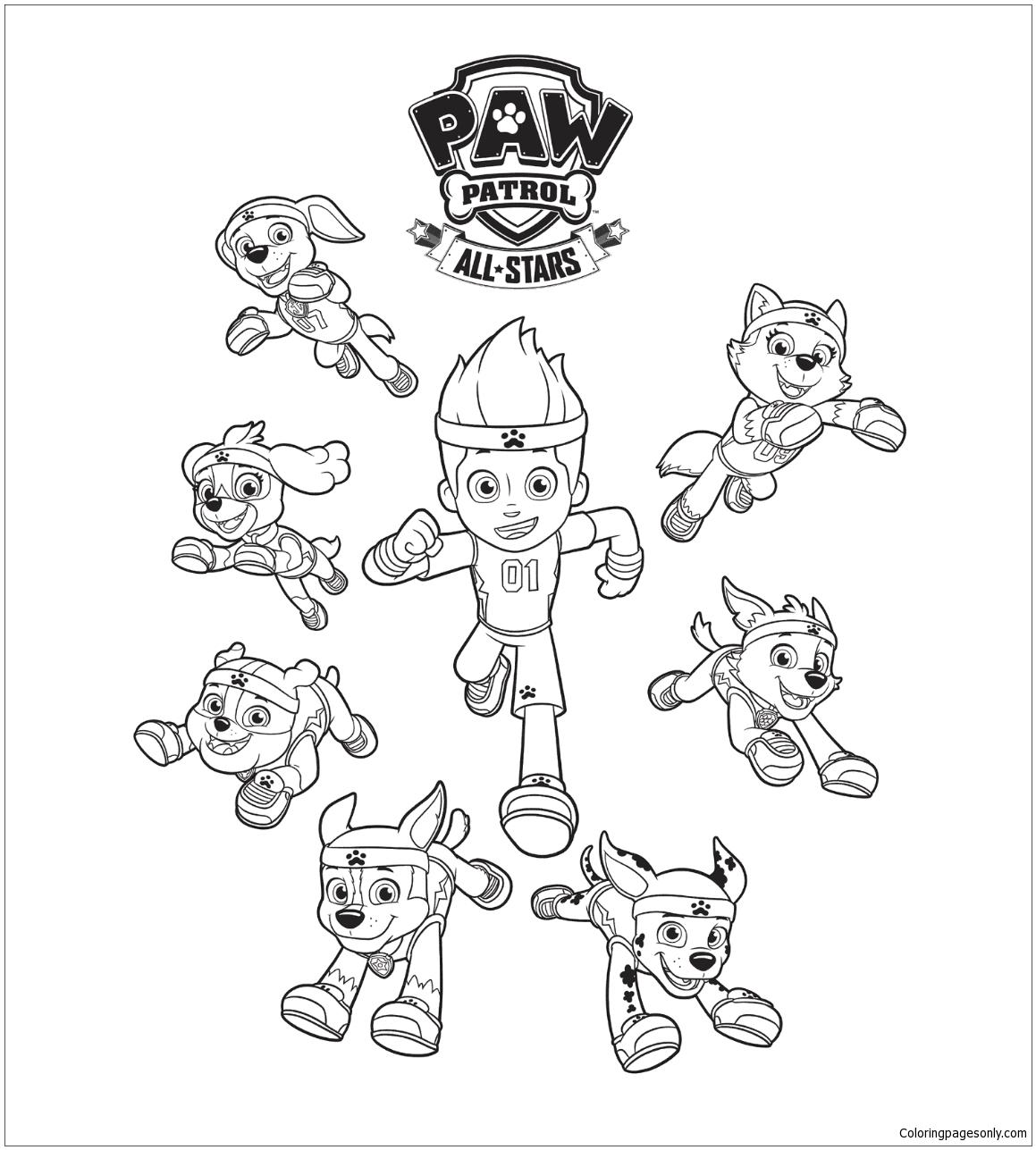 Paw Patrol 16 Coloring Page
