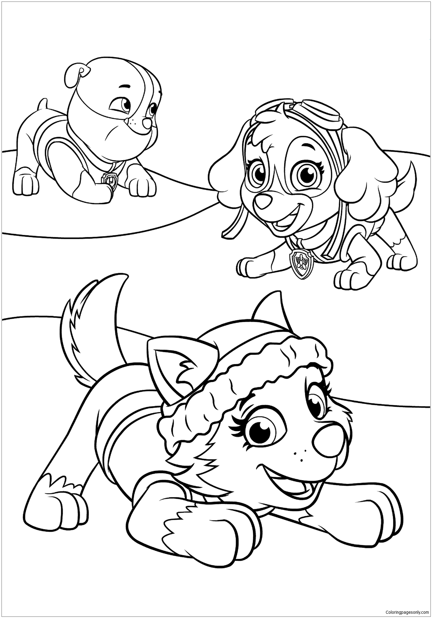 Paw Patrol 20 Coloring Page Free Coloring Pages Online