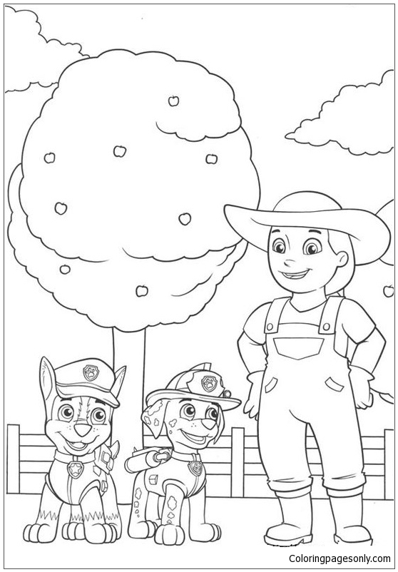 Paw Patrol Characters 7 Coloring Page Free Coloring